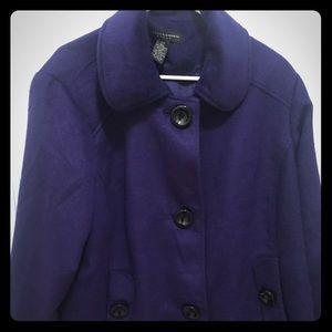 Jackets & Blazers - Dark purple jacket with black buttons